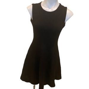 Zara black sleeveless skater dress